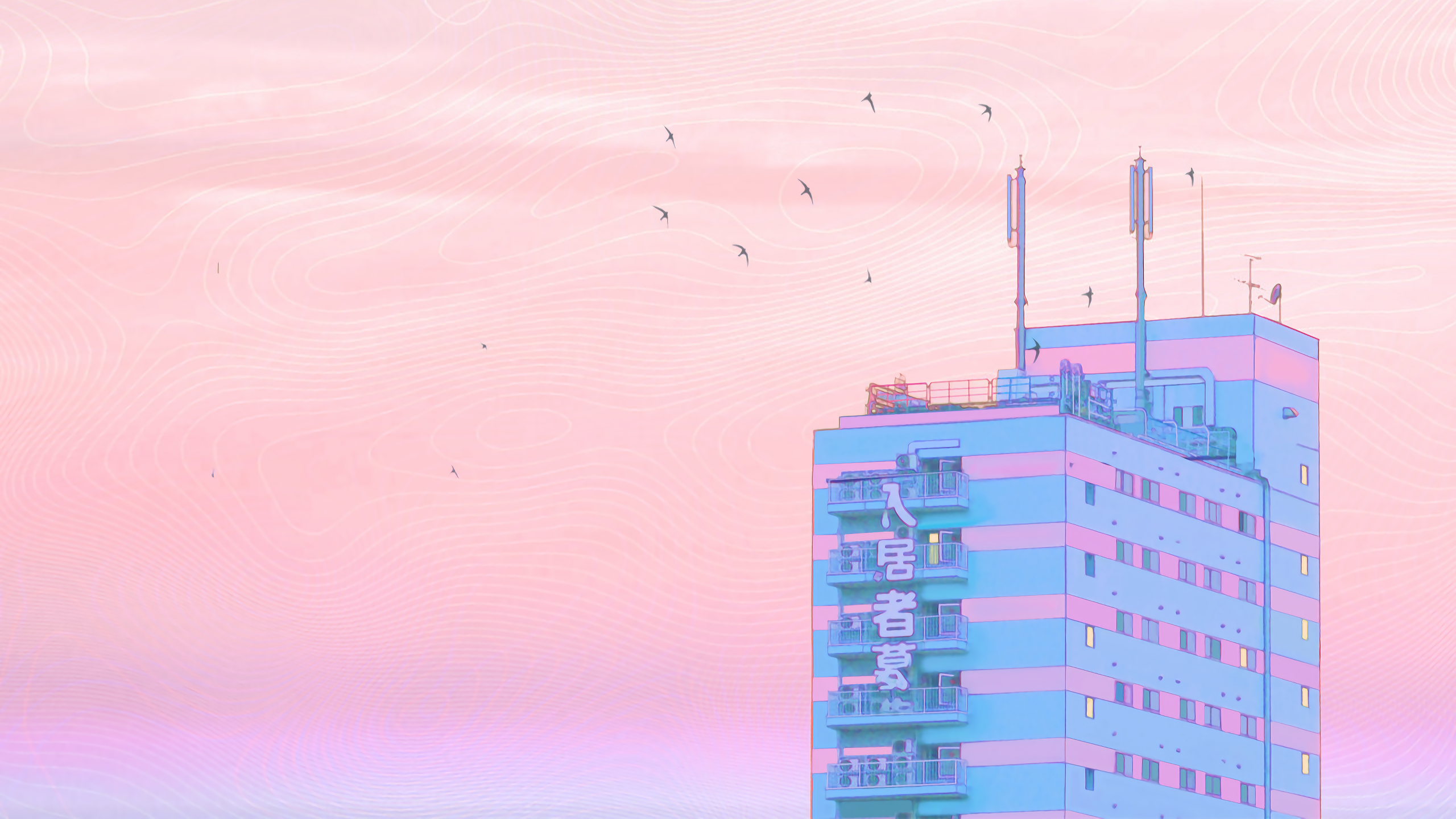 Hiroshima Dawn Owakita 2560x1440 Aesthetic Desktop Wallpaper R Wallpaper Wallpaper