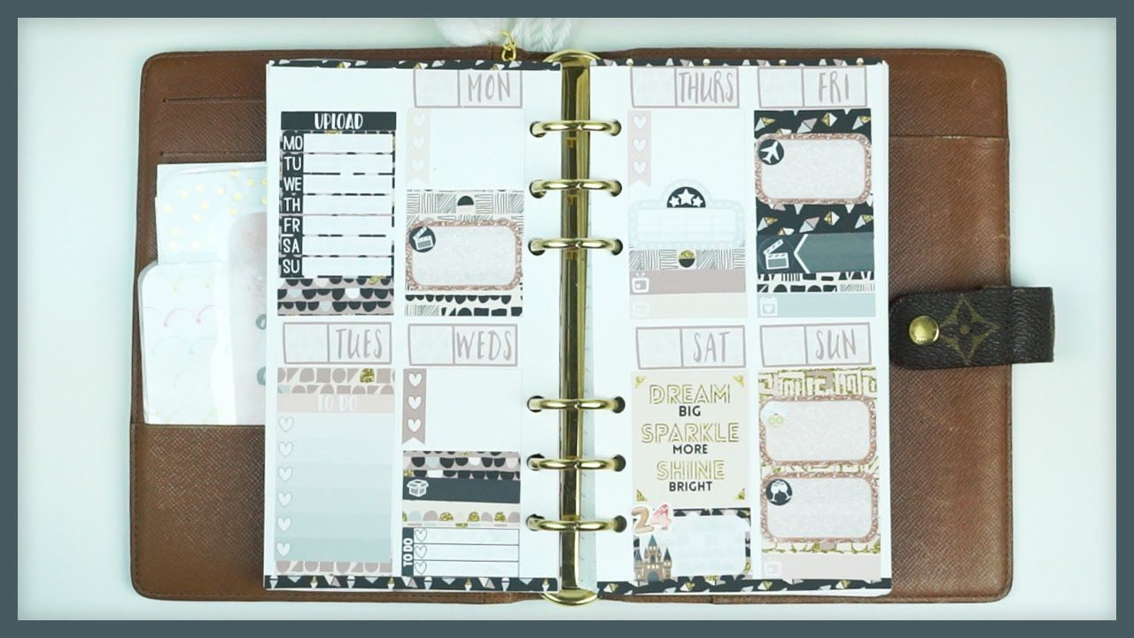 Sped Up Plan With Me // Birthday Scraps! (Sew Much Crafting Inserts)