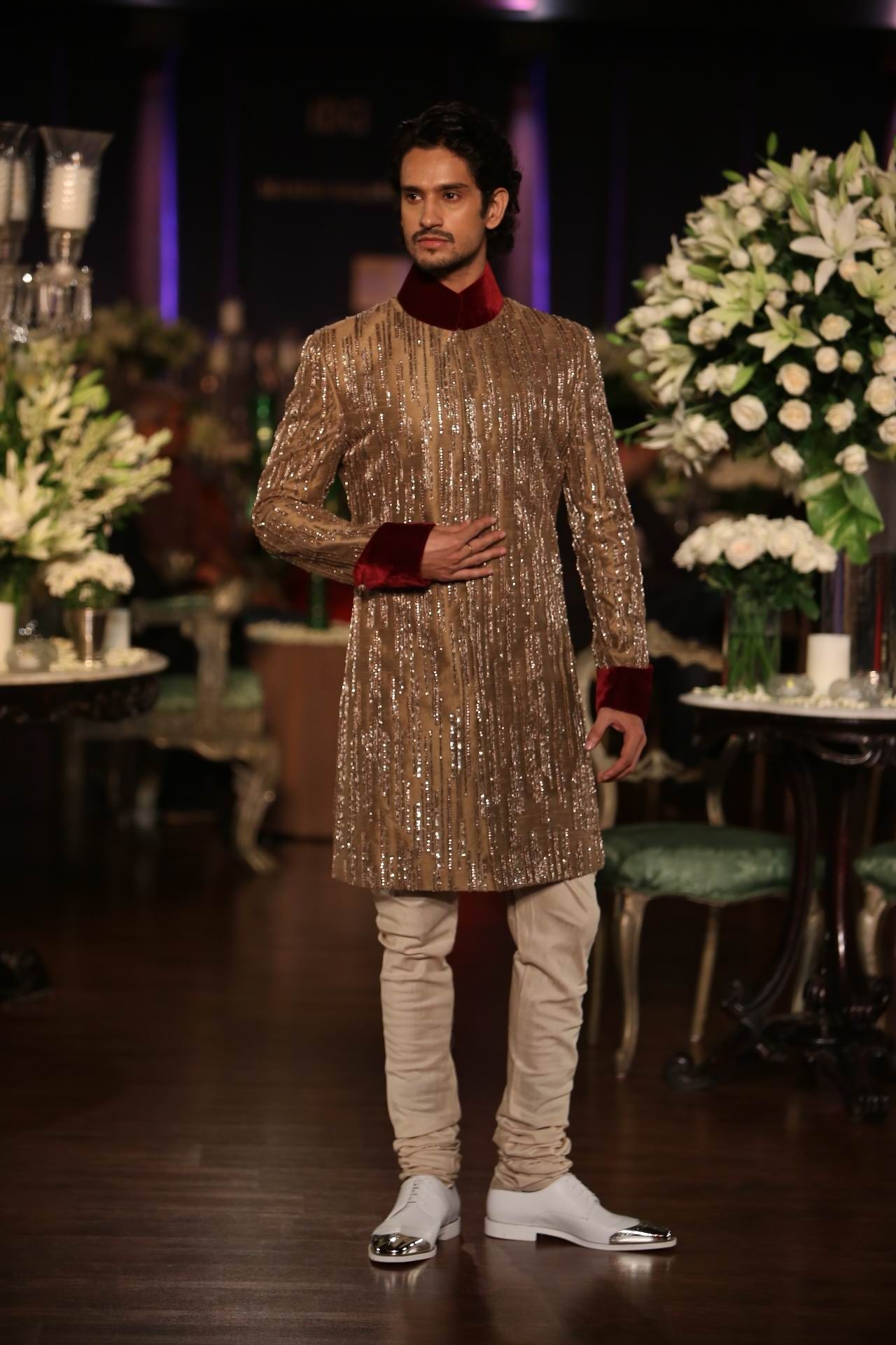 93180a004f1 Manish Malhotra Latest Collections of Indian Top Designer Men Sherwani  Designs for Weddings   Parties 2015 (2)