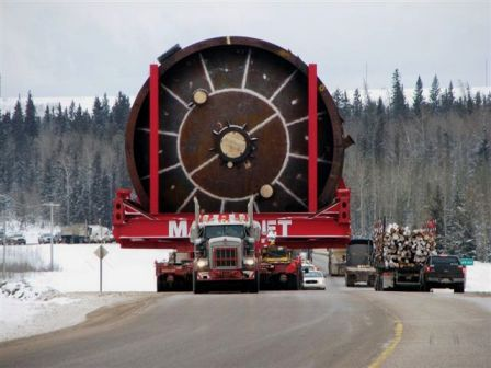 Mining equipment to Alberta Tar Sands