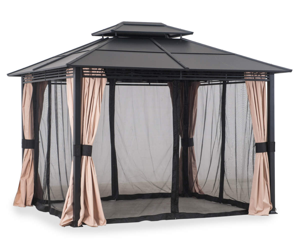 Wilson Fisher Broadmoor Hard Top Gazebo 10 X 12 Big Lots In 2020 Gazebo Gazebo On Deck Gazebo Roof