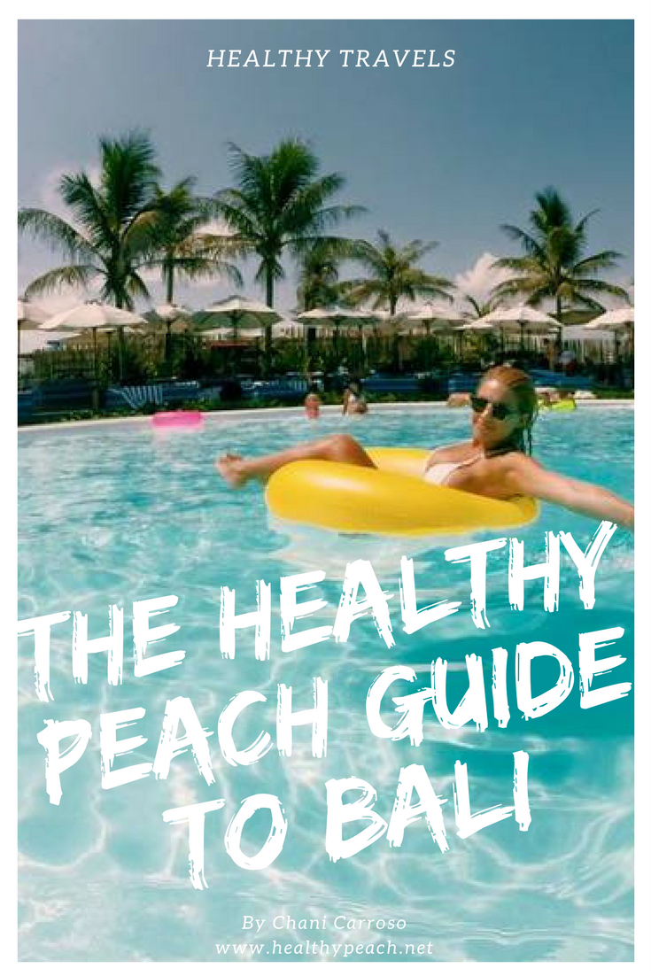 Some of you may have recently seen my beautiful trip to Bali via my Instagram. Since coming back I've been inundated with people wanting our itinerary details, so rather than re- writing it all out for everyone... I've decided to just blog it! So this is The Healthy Peach guide to Bali. Whether you're wanting a relaxing holiday with your babe, a healthy holiday or even a polar opposite fun trip away with the girls (or boys!), this guide will definitely help you find my favourite Bali top…