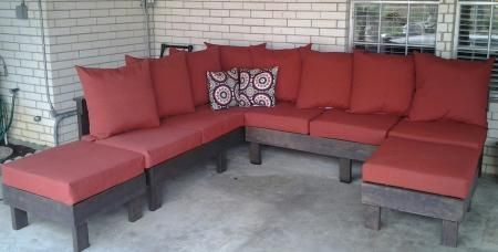 outdoor sectional do it yourself home projects from ana white outdoor spaces pinterest. Black Bedroom Furniture Sets. Home Design Ideas