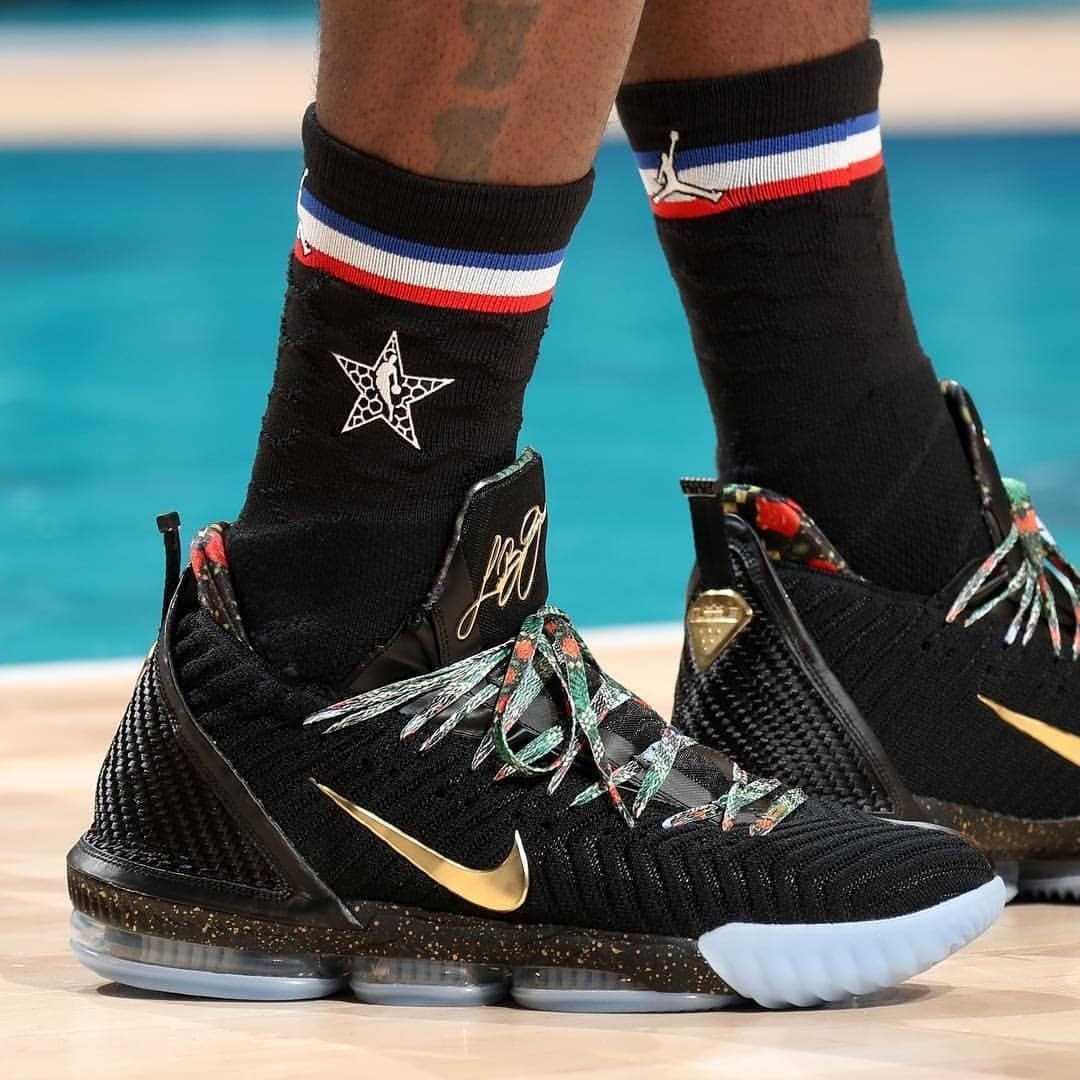 8af41d1ed736 LeBron James in Nike LeBron 16 Watch the Throne aka King s Throne. After  last night s SNKRS drop you can get them locally at select…