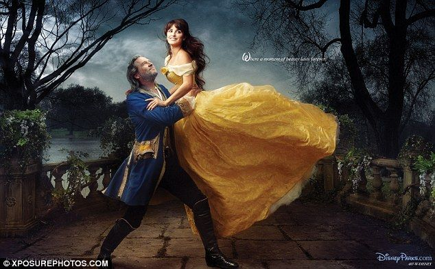 Lovely: Penelope Cruz and Jeff Bridges portrayed Beauty and the transformed Prince in this reenactment of the final scene from Beauty And The Beast  in 2011