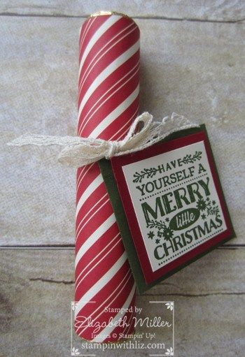 Today I am sharing with you a project that is super easy to put together, yet it looks fabulous! These make the perfect gift for those people that you want to wish Merry Christmas to with just a l…