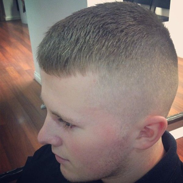 White wall military haircut