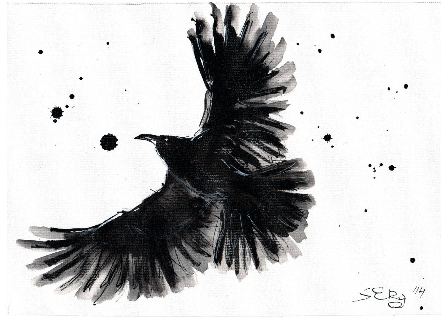 Brushstroke style crow concept golden crow pinterest crows brushstroke style crow biocorpaavc