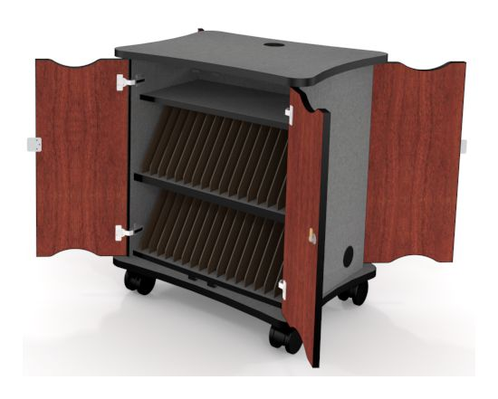 Tablet Charge Cart From Fleetwood Furniture