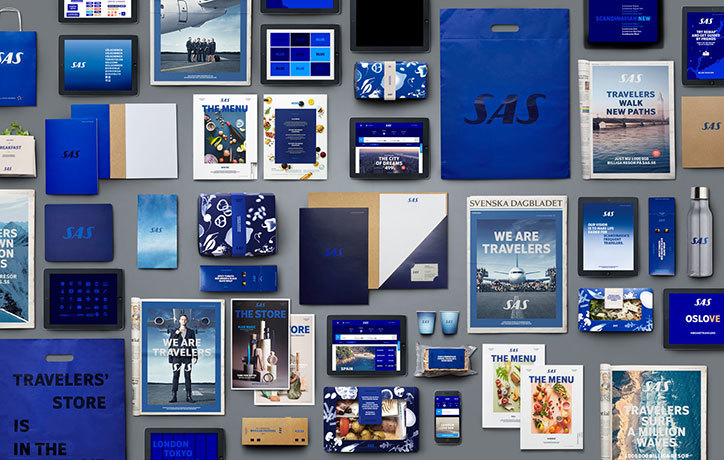 Scandinavian Airlines Rebrand By Bold Is Stripped Back And Heavier On The Blue It S Nice That Airlines Branding Airlines Sas Airlines