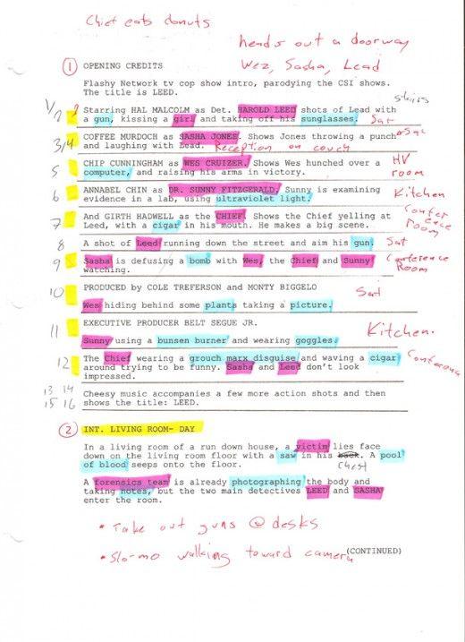 How To Do A Script Breakdown  Short Film Films And Filmmaking