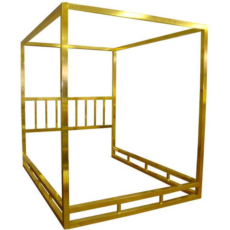 Best Queen Size Modern Brass Canopy Bed From A Unique 400 x 300