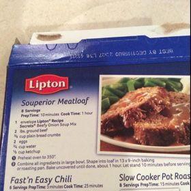 Lipton Souperior Meatloaf Recipe Recipe Onion Soup Mix Recipe Onion Soup Recipes Lipton Onion Soup Recipes
