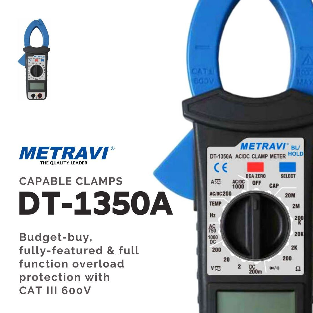Metravi Gives You Capable Clamps Our Clamp Meters Give You High Precision Reliability As Well As Extra The Dt 1350 Series Are Budget B In 2020 Clamp Metering Acdc