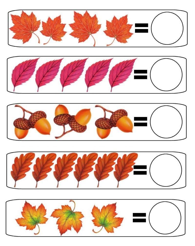 Contar En Oto C3 B1o Jpg 800 1007 Math Activities Preschool Autumn Activities Kids Math Worksheets [ 1007 x 800 Pixel ]