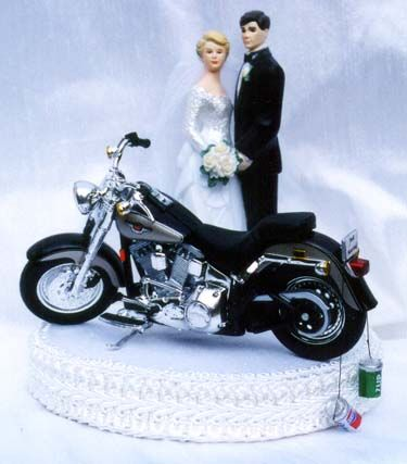 Harley Davidson Wedding Cake Toppers With Images Motorcycle Wedding Harley Davidson Wedding Wedding Topper