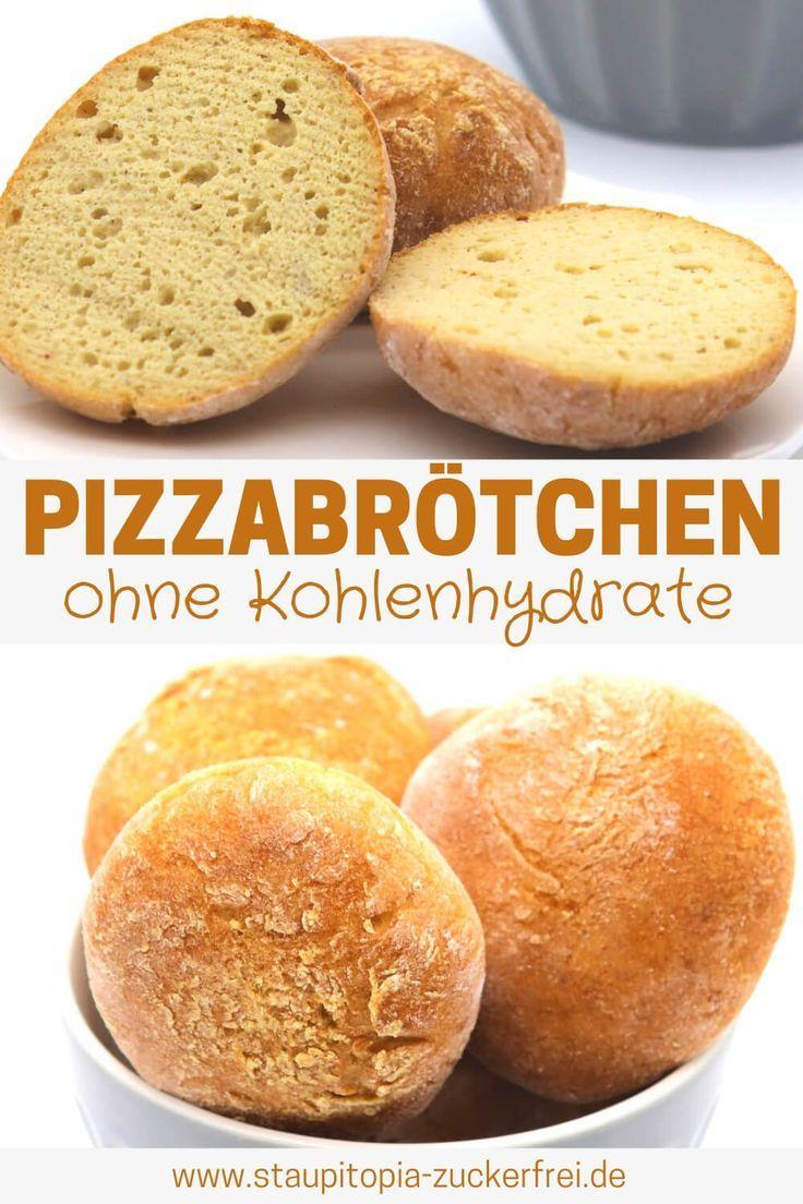 Low Carb Pizzabrötchen - Staupitopia Zuckerfrei
