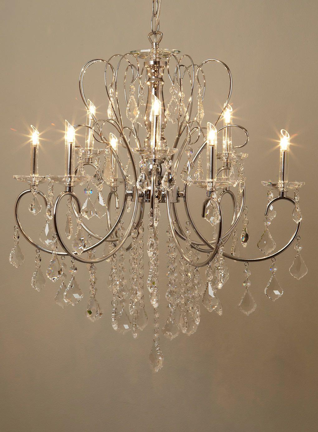 Silver Kinnari 9 Light Chandelier  Ceiling Lights