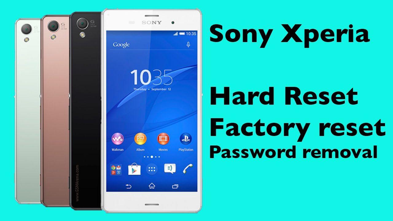 Sony Xperia Z5 Z3 Z3 Z2 Z1 Z Hard Reset Unlock Password