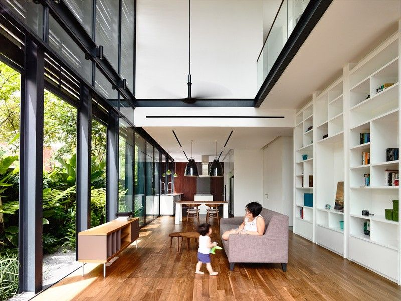 A Corner Terrace House For A Family In Singapore House Design Terrace House House