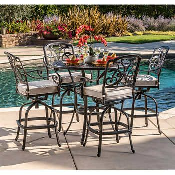 San Paulo 5 piece Patio Bar Dining Set Back yard ideas
