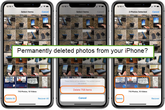 5 Ways To Recover Permanently Deleted Photos From Iphone 6 7 8 X