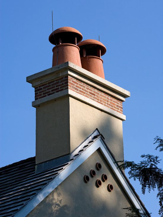Chimney Caps For Prefab Fireplaces Resembling Old World Chimney Pots Prefab Fireplace Traditional Exterior Chimney Cap