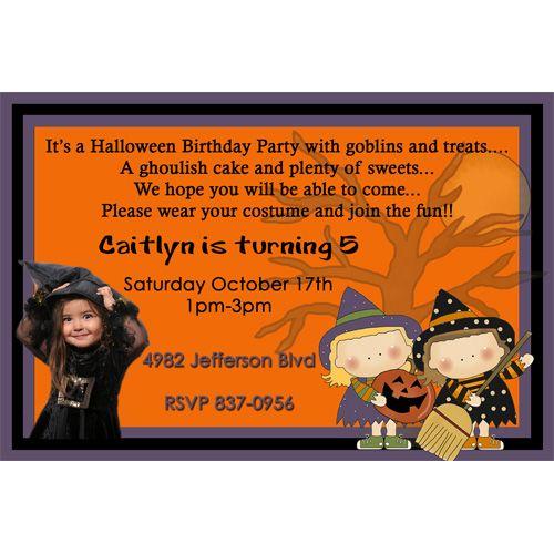 Halloween birthday party invitation ideas halloween pinterest halloween birthday party invitation ideas filmwisefo Gallery