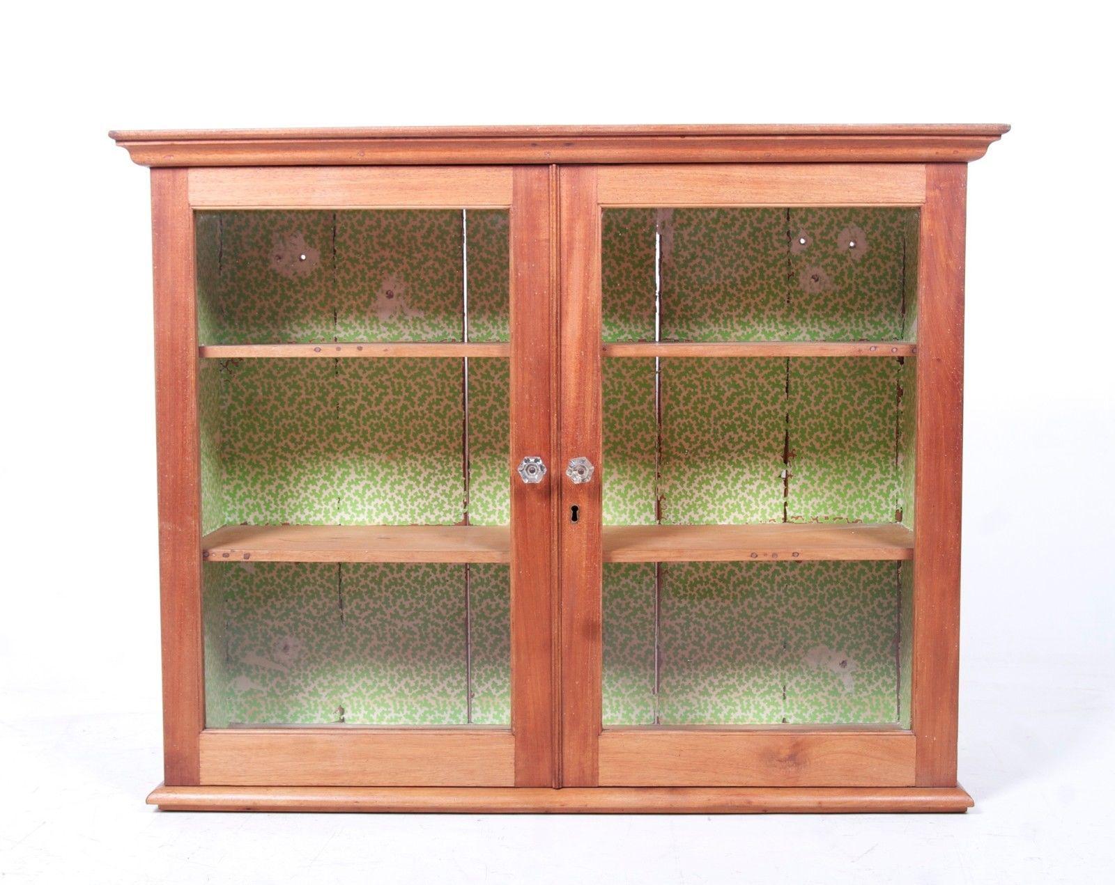 Antique Pine Display Cabinet Specimen Victorian Stripped