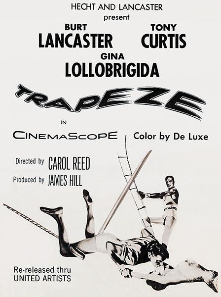 Trapeze 1956 Movie Poster Vintage Movie Posters Movie