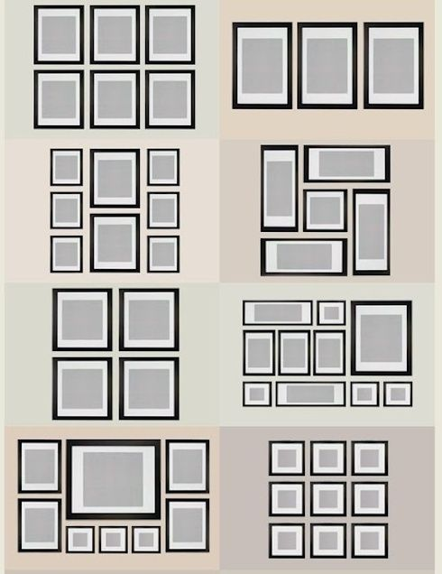 gallery photo wall ideas  MONO Deco-  Pinterest  레이아웃 및 인테리어
