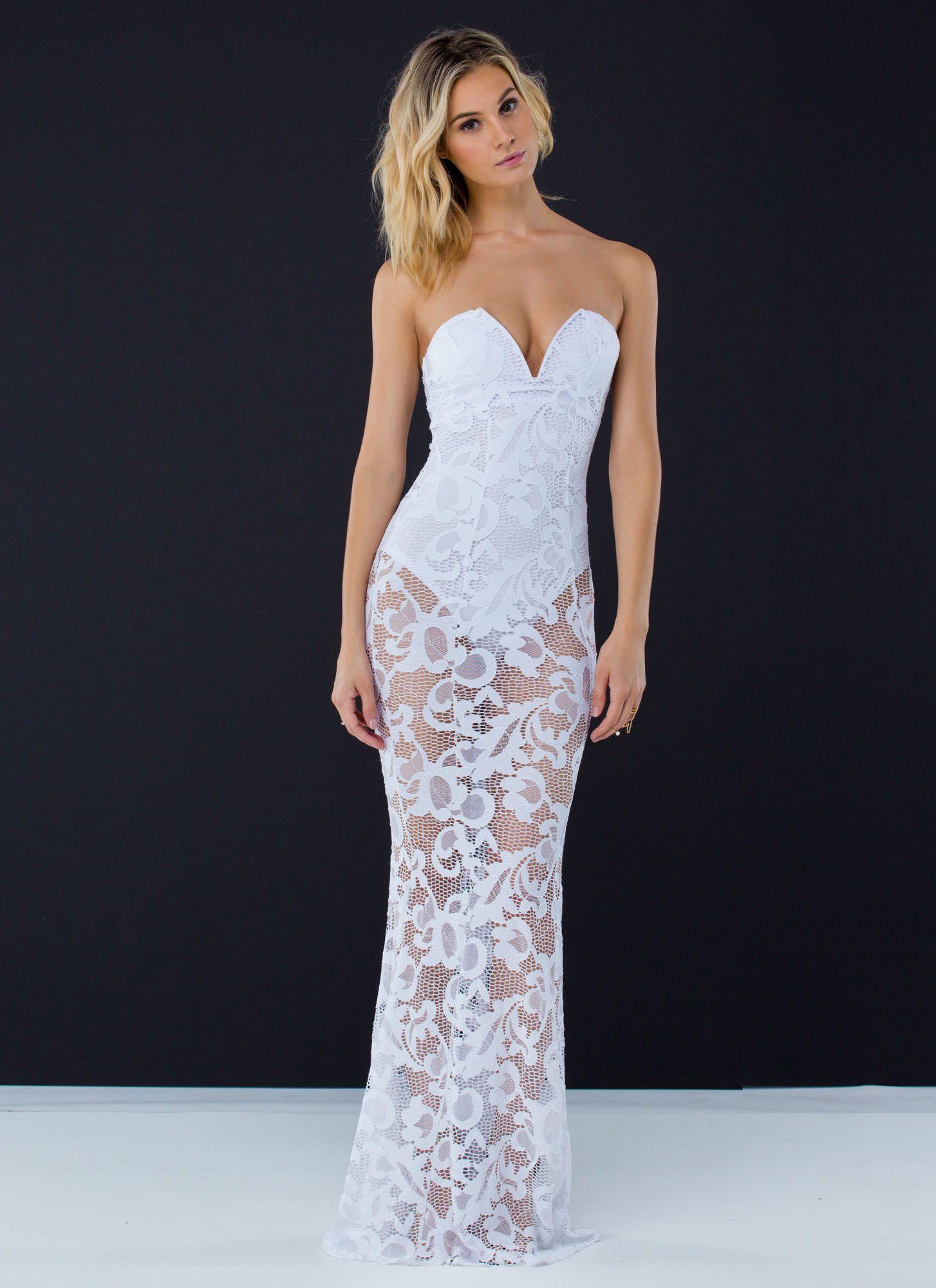 2dafd7f077 Caught In A Net Mermaid Maxi Dress WHITE YELLOW - GoJane.com ...