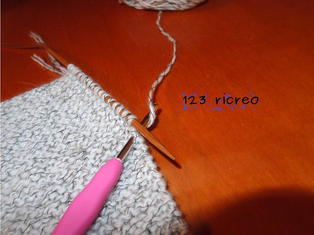 #maglia: come riprendere le maglie  con l' #uncinetto - 123 ricreo