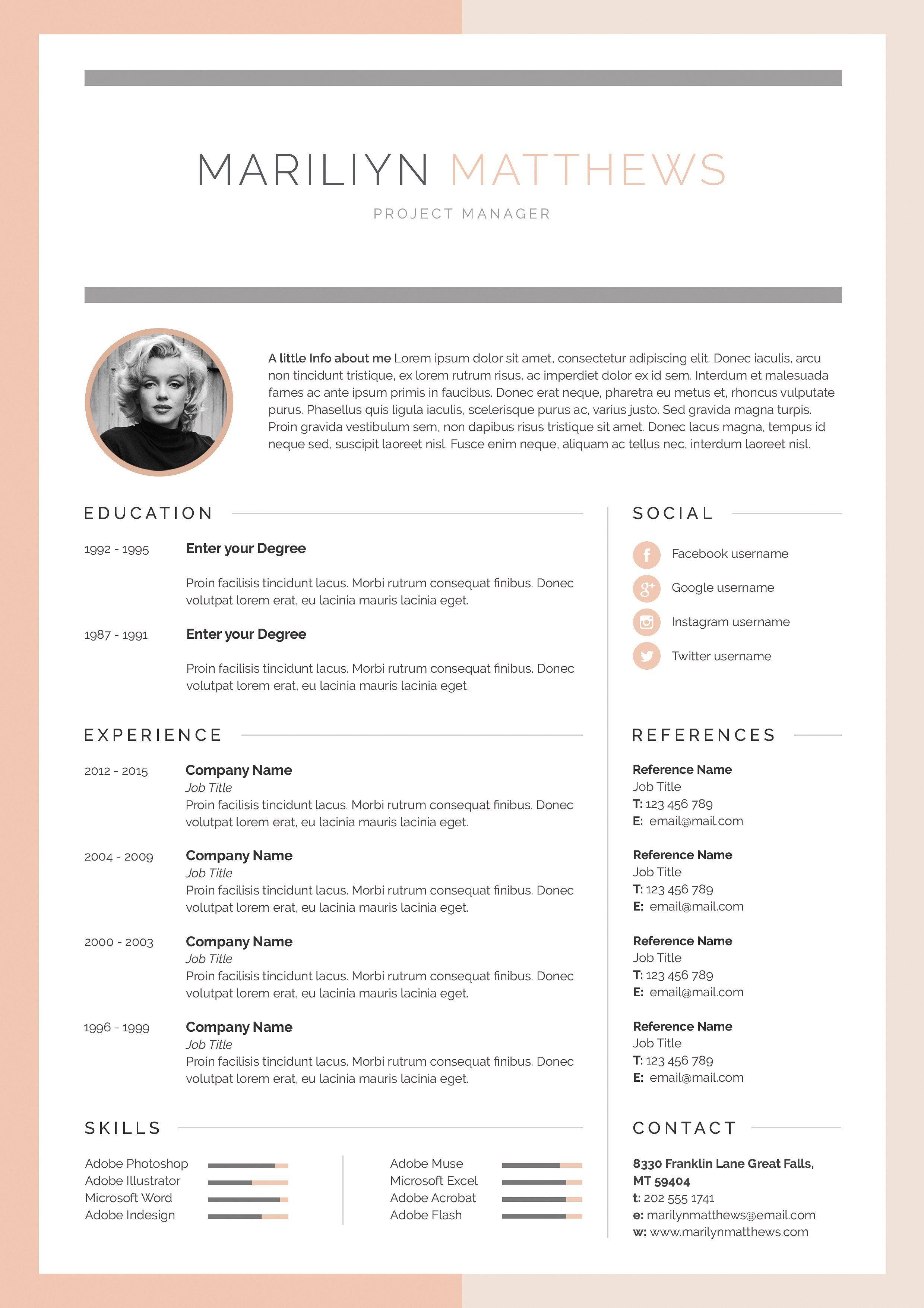Word Resume & Cover Letter Template Resume cover letter