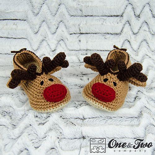 Ravelry: Reindeer Booties for Child pattern by Carolina Guzman