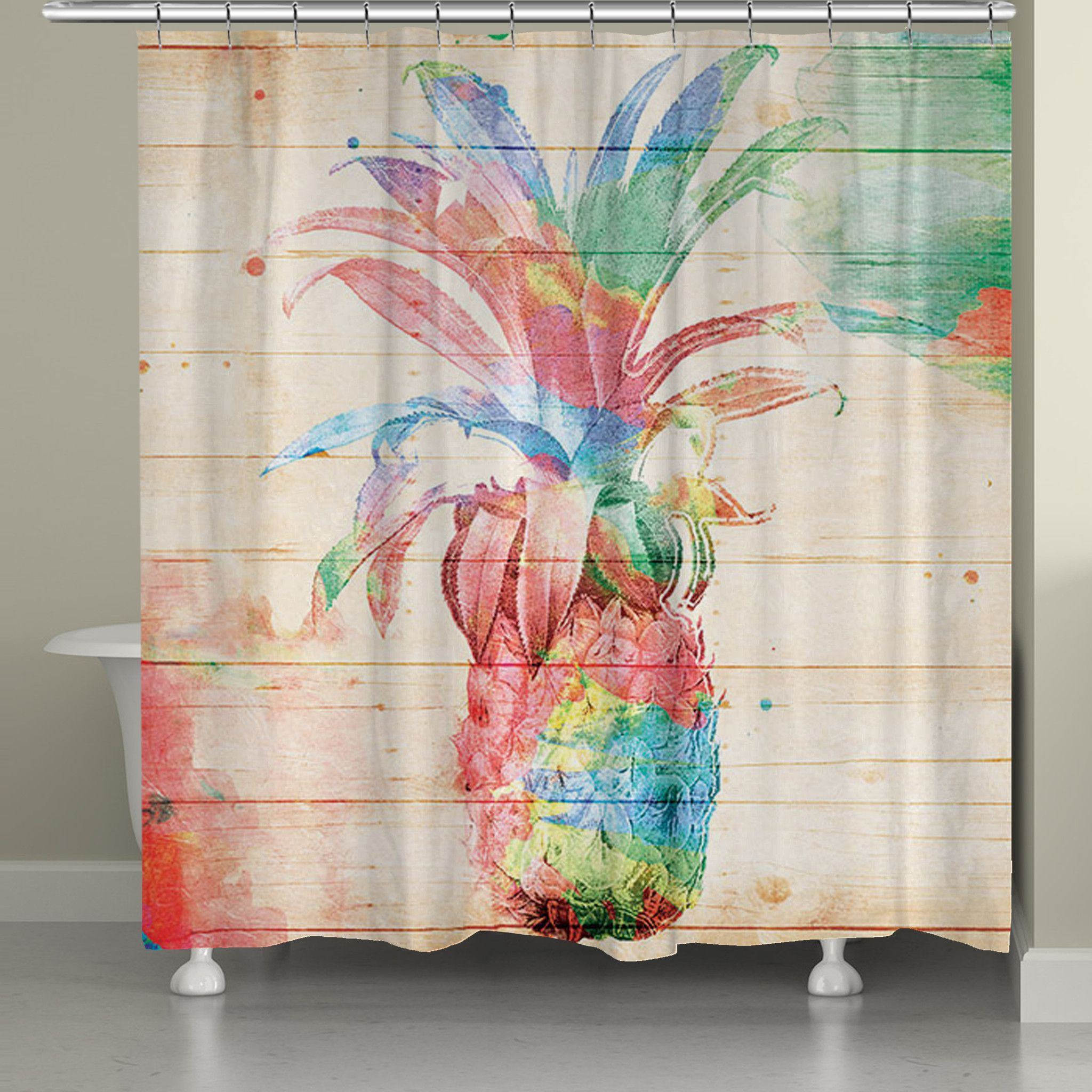Colorful Pineapple Shower Curtain Pineapple Shower Curtain