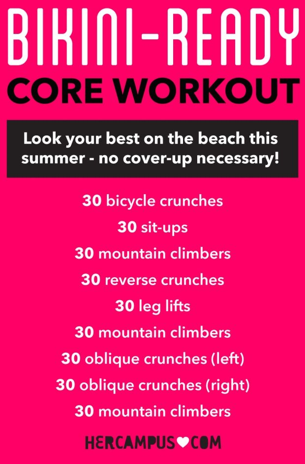 Get Bikini-Ready Abs in No Time With This Core Workout #coreworkouts