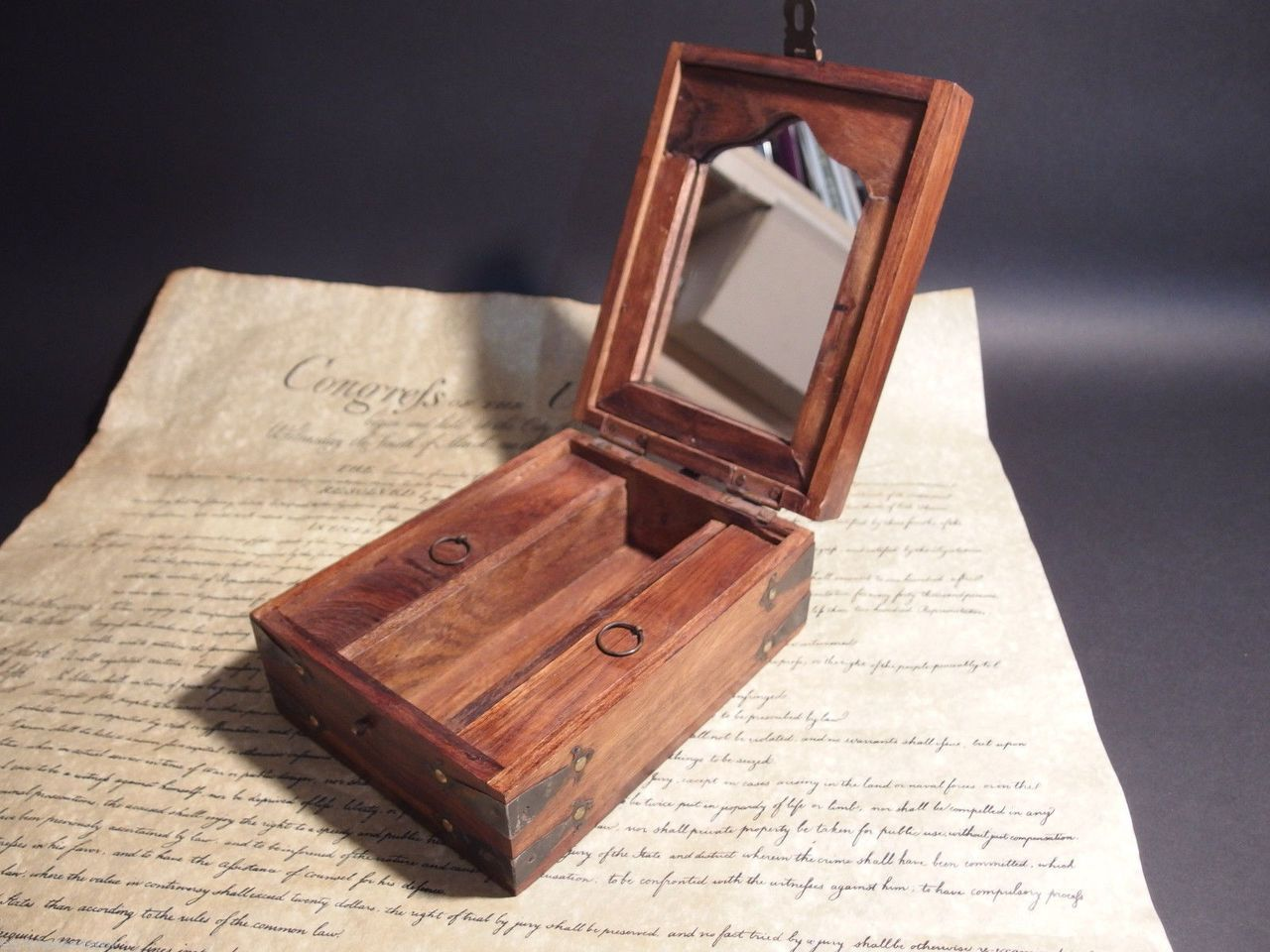 Antique Vintage 19th C Style Campaign Shaving Travel Dressing Box kit set - Early  Home Decor