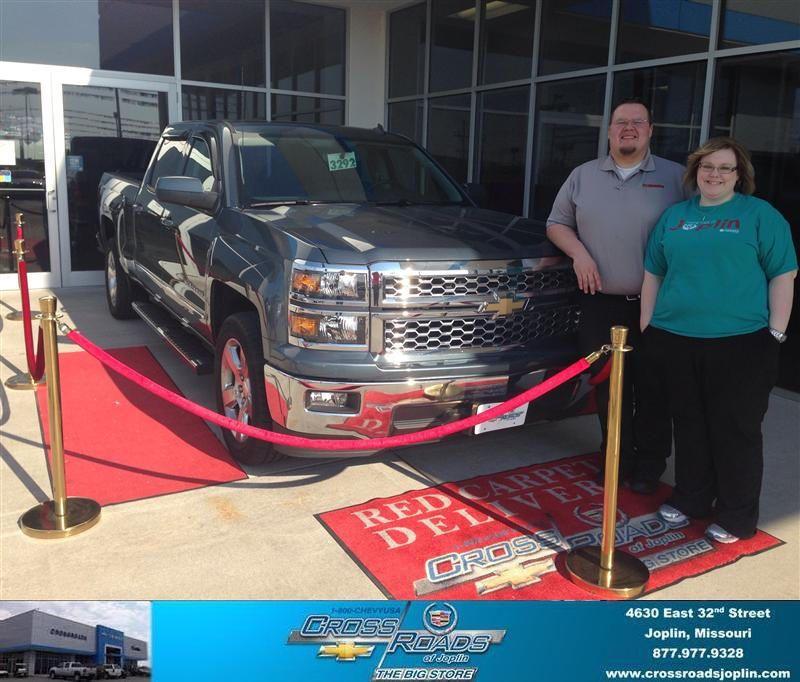 Congratulations to Megan Cornish on your #Chevrolet #Silverado 1500 purchase from Phillip Burnette at Crossroads Chevrolet Cadillac! #NewCar