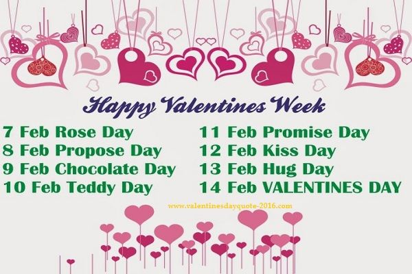 valentine days week list wallpapers valentines day quotevalentine days week list wallpapers