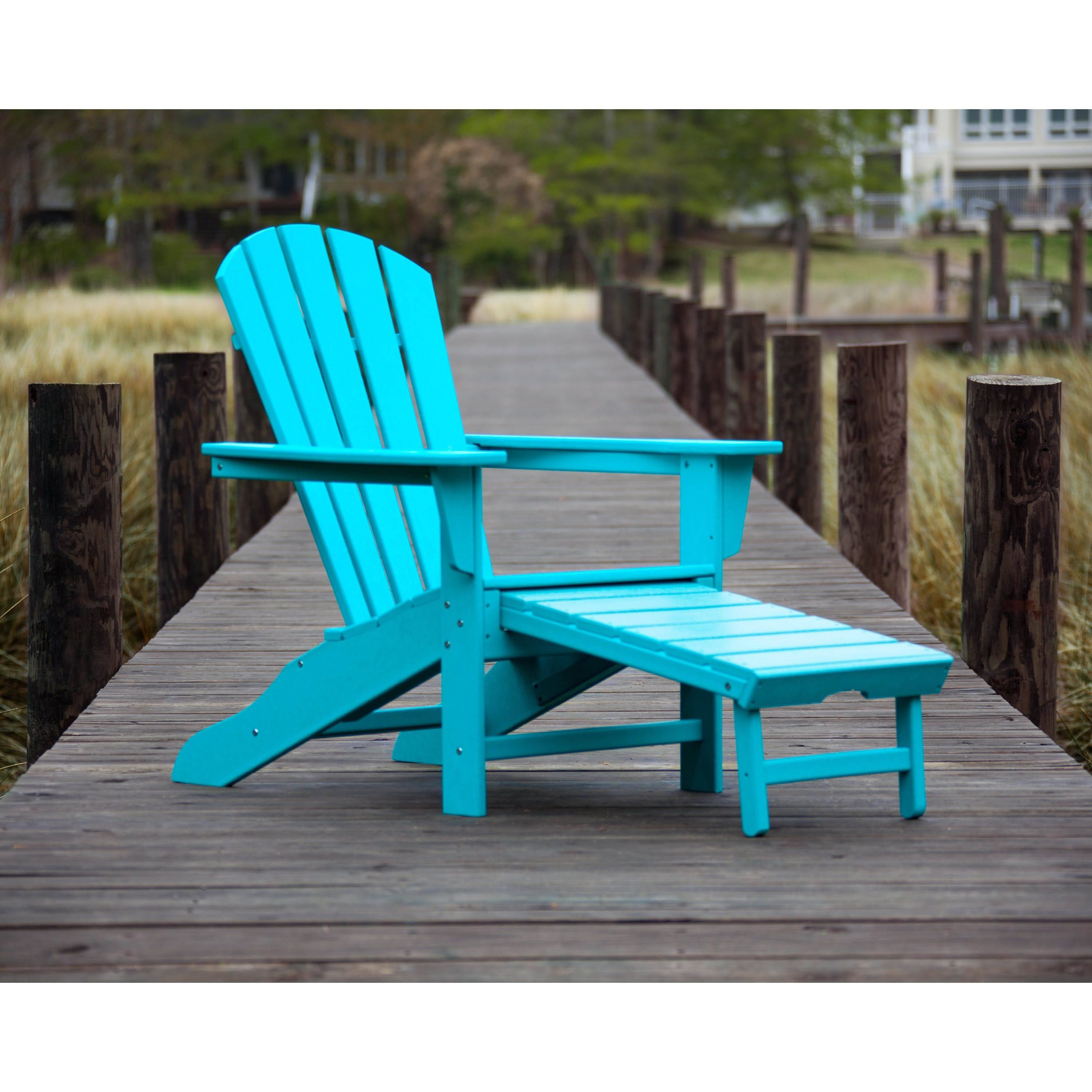 Polywood Palm Coast Outdoor Ultimate Adirondack Chair With