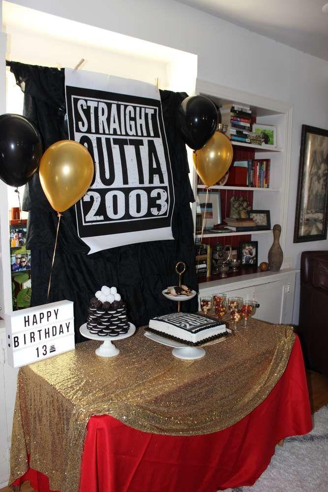 Pizza Birthday Party Ideas Photo 3 Of 61 15th Birthday Party Ideas Boy Birthday Parties Boy 16th Birthday