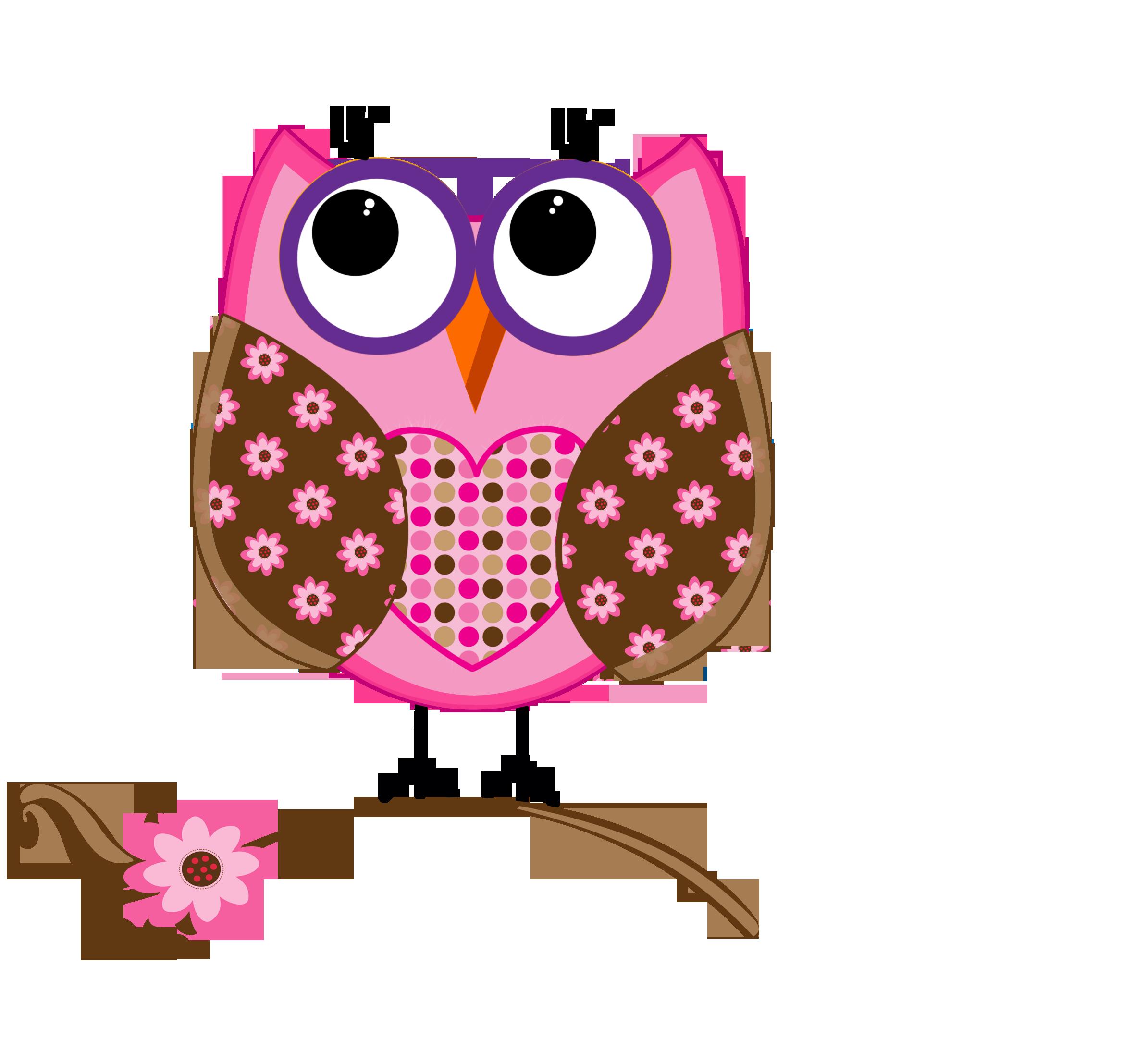 cute owl clip art - 500×469