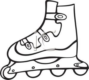 A Inline Rollerblade Royalty Free Clipart Picture Skate