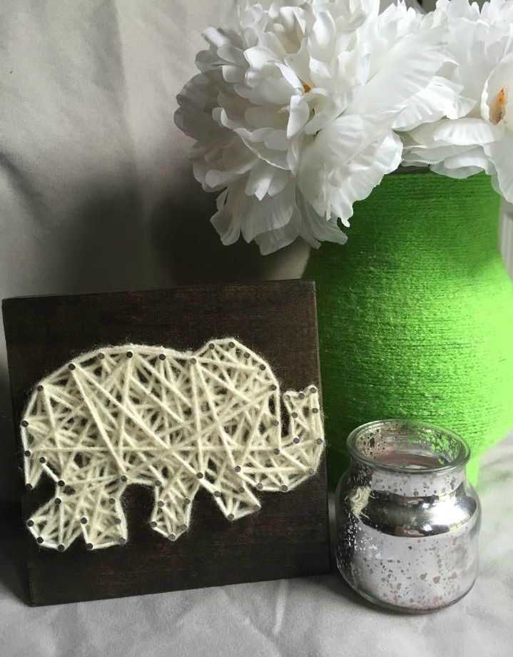 Elephant Decor String Art