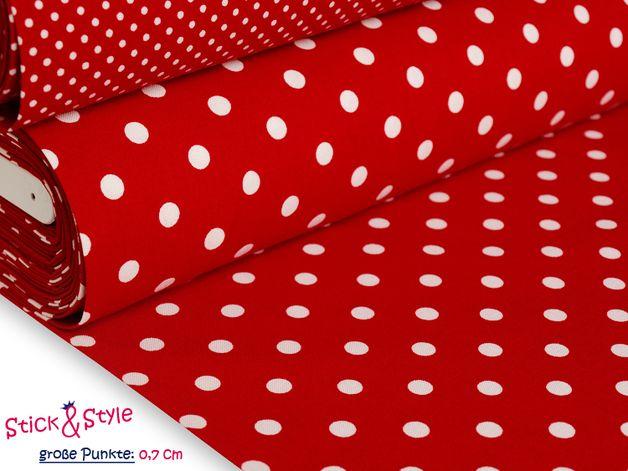 Stoff Punkte Stoff Mit Punkten Rot Weiss Ein Designerstuck