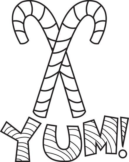 free printable candy canes coloring page for kids - Winter Coloring Pages Printable Free 2