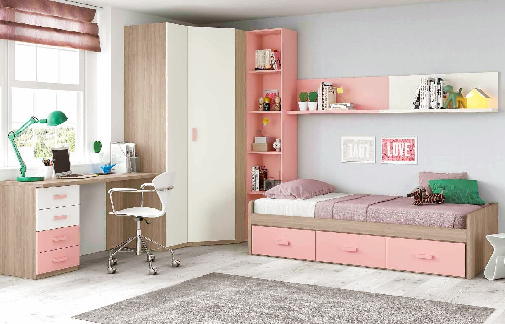 sexy chambre ado chambre ado fille douce et rose avec lit coffres glicerio so nuit