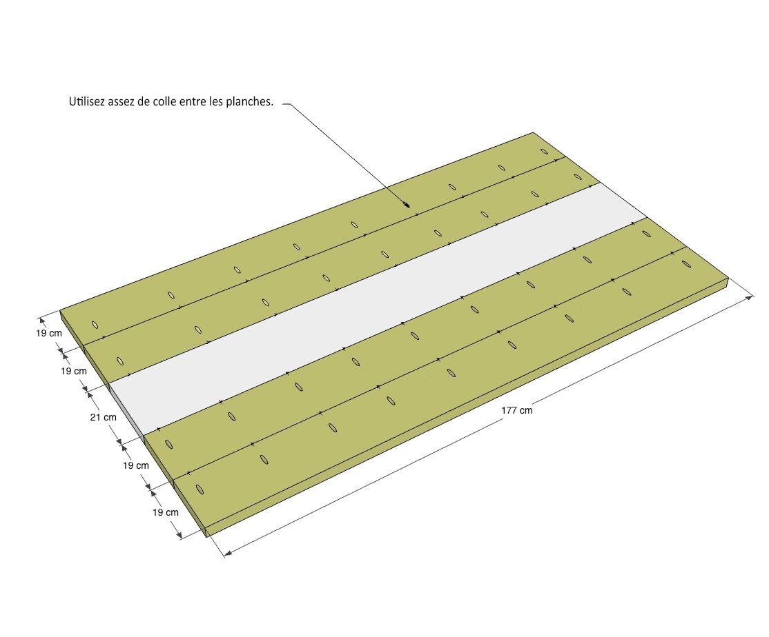 Fabriquer une table robuste   Étape par étape   Brico.be   Plans ...