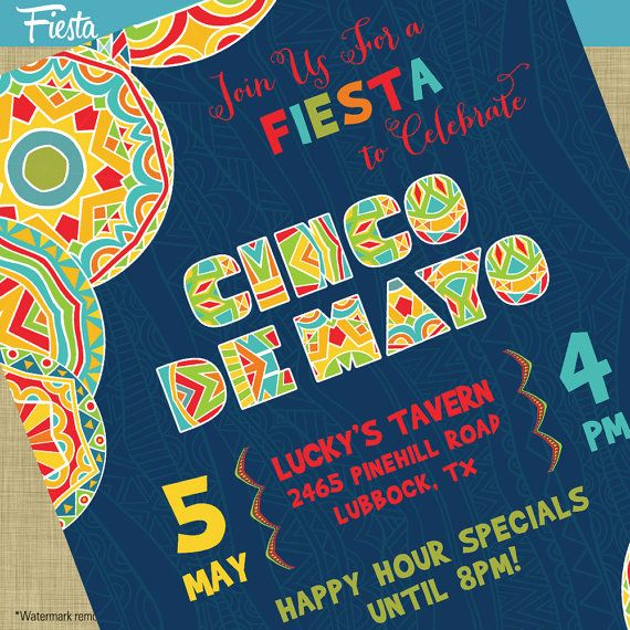 Cinco De Mayo Fiesta Flyer Invitation Poster  Template Church